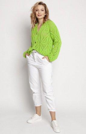 MKM SWE233 rozpinany sweter jasny zielony