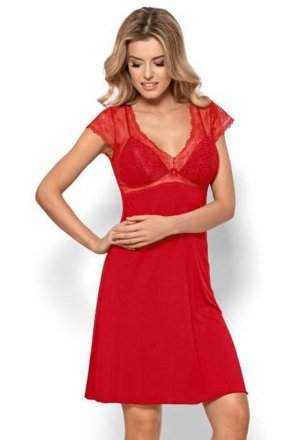 Nipplex Bianca czerwona koszulka nocna