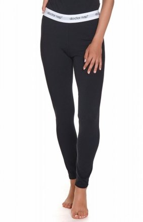 Czarne legginsy z gumą LEG.4326