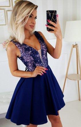 Wieczorowa sukienka z wiązaniem 2196-11N