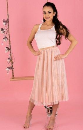 Plisowana spódnica midi Neri Pink 0317