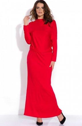 *FIMFI  I140 sukienka czerwona