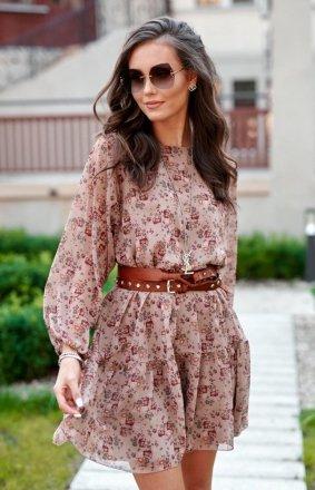 *Oversizowa sukienka mini 0299 R81
