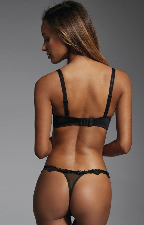 Krisline Brillant brassiere biustonosz push-up czarny tył