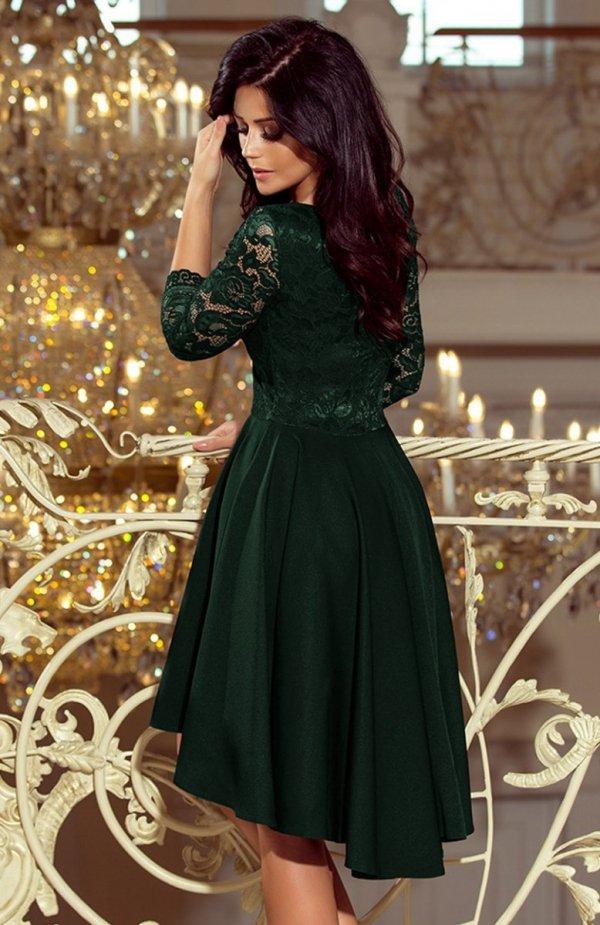 Numoco 210-3 Nicole sukienka ciemna zieleń tył