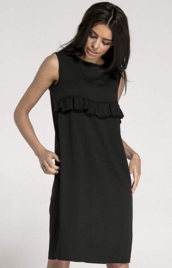 Prosta sukienka z falbanką NA1001