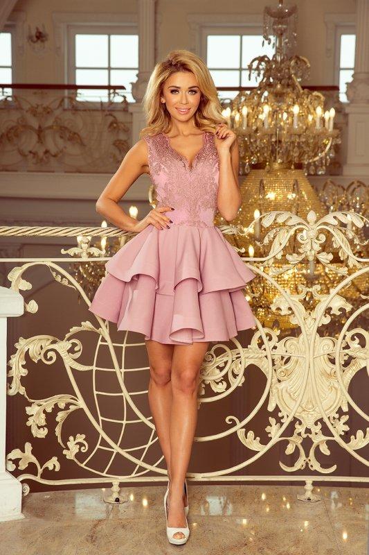 Rozkloszowana sukienka z koronką 200-10 Charlotte Numoco -1