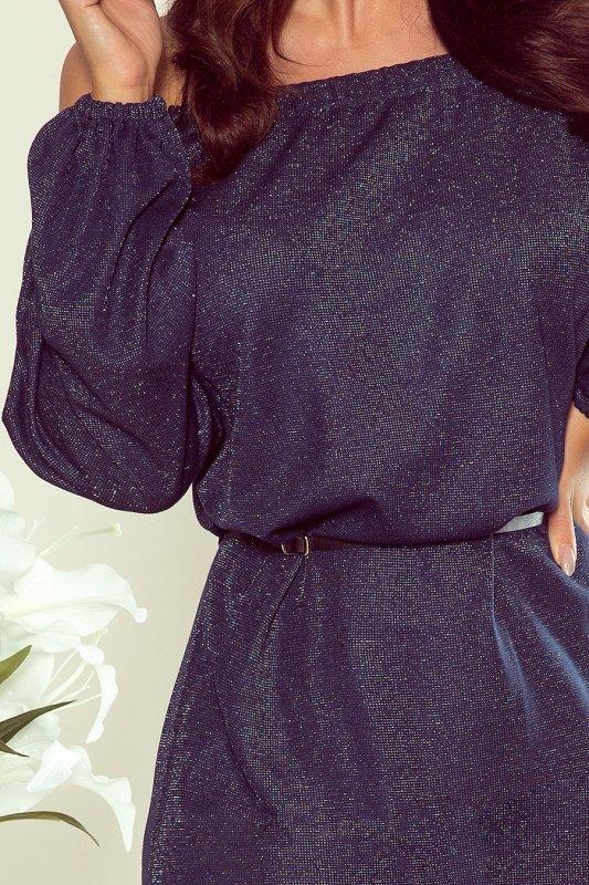 Numoco sukienka z połyskiem Dina 270-1 zoom