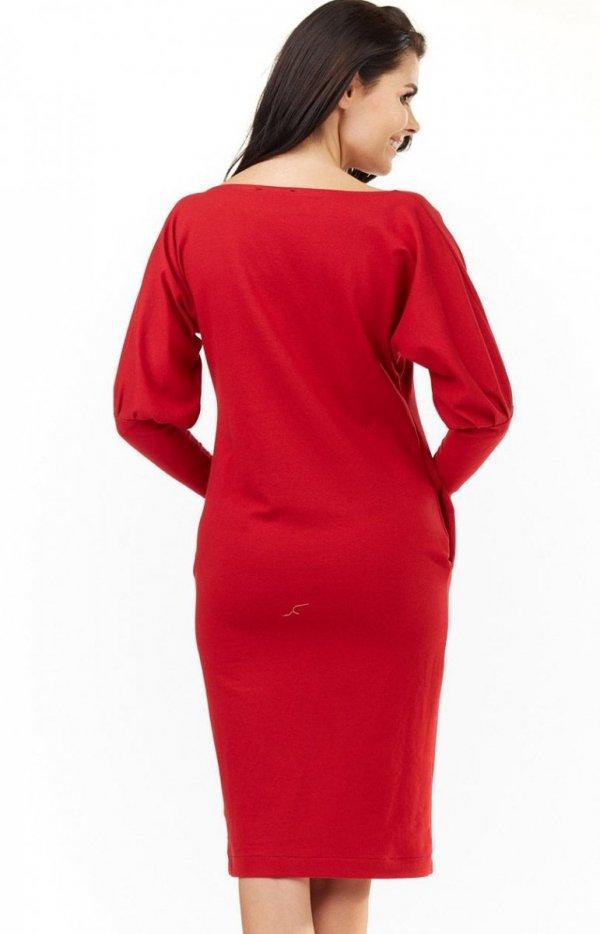 4f0f10c081 Awama A206 sukienka czerwona - Sukienki damskie na co dzień ...