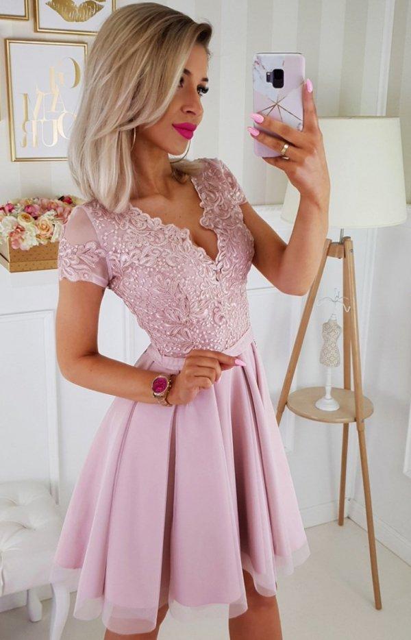 Koronkowa sukienka z tiulem 2180-20