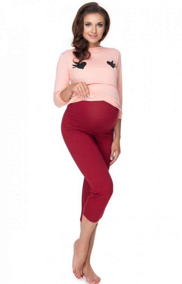 Ciążowa piżama damska z buźką 0151-1
