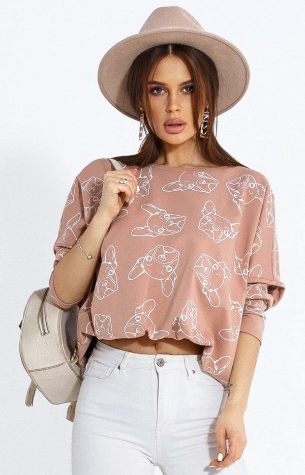 Oversizowa bluza w buldogi 103-20-1