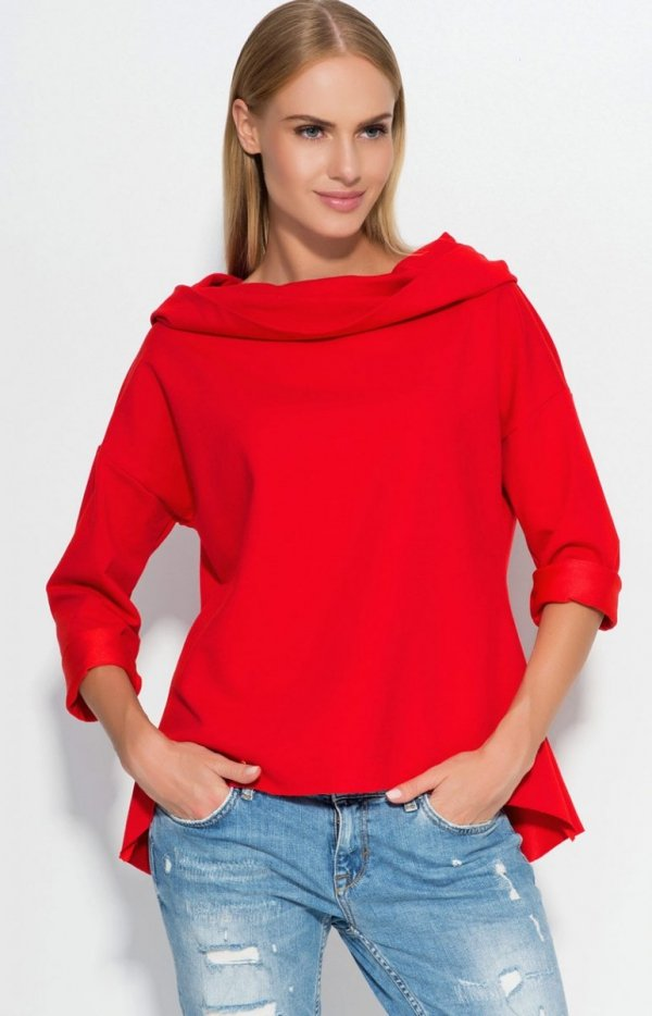 Makadamia M324 bluza czerwona