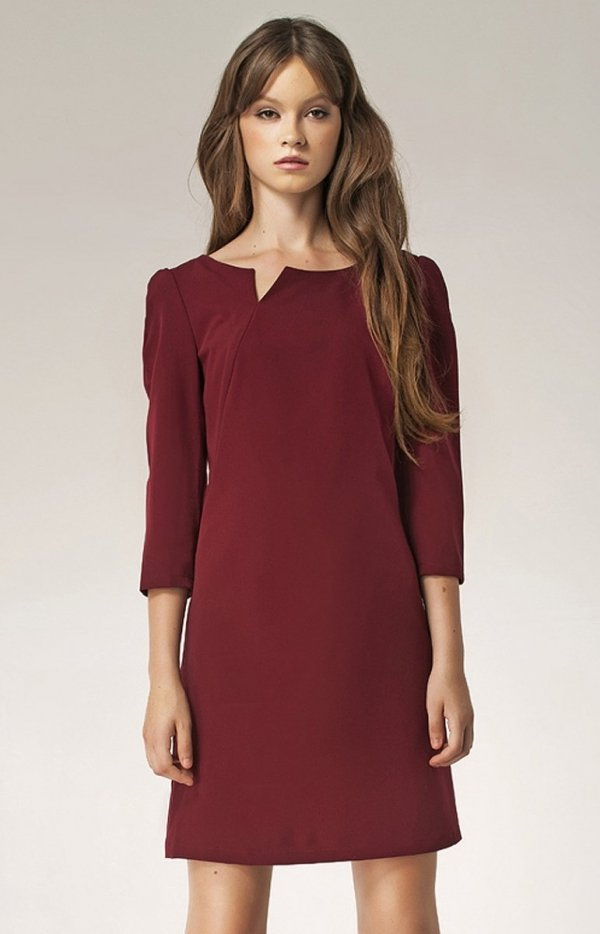 Nife S39 sukienka bordowa