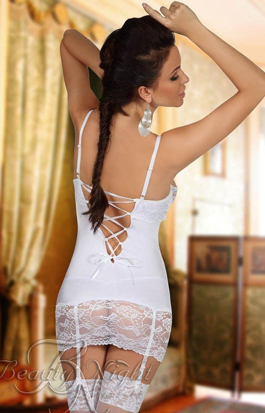 Beauty Night Shirley chemise white komplet