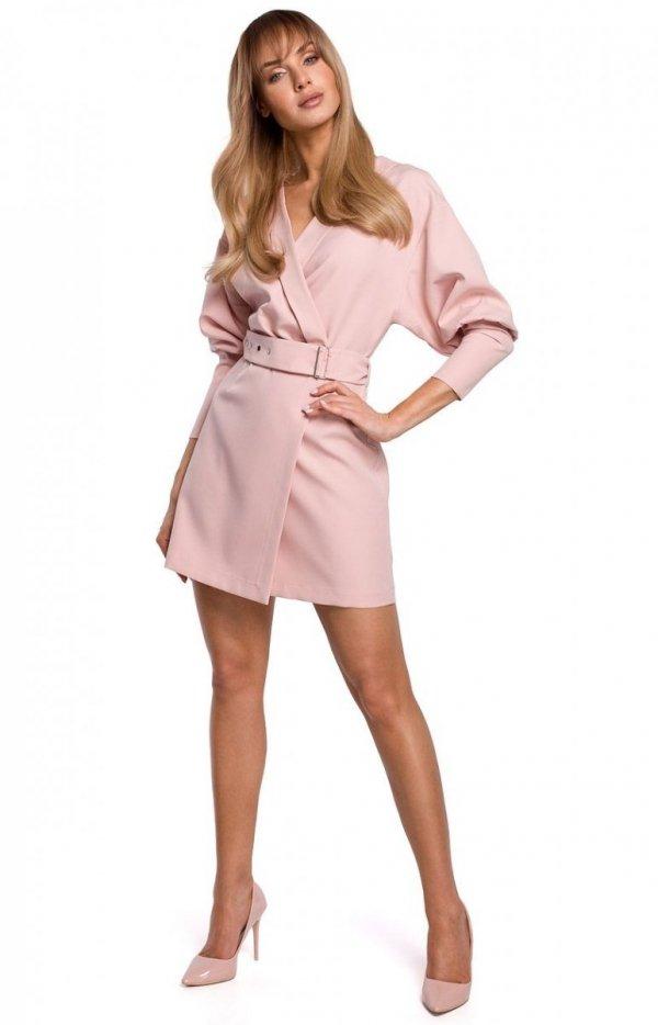 Stylowa sukienka z paskiem M501-1