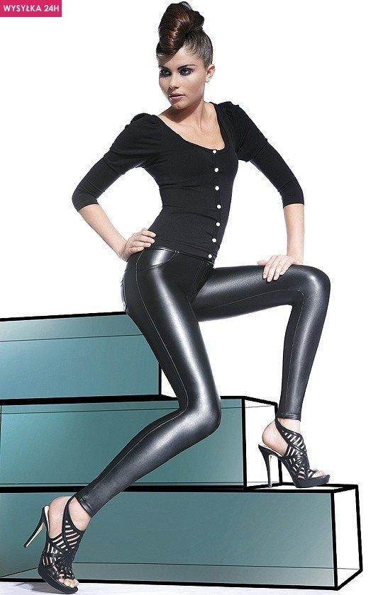 Bas Bleu Vanessa legginsy lateksowe 200den