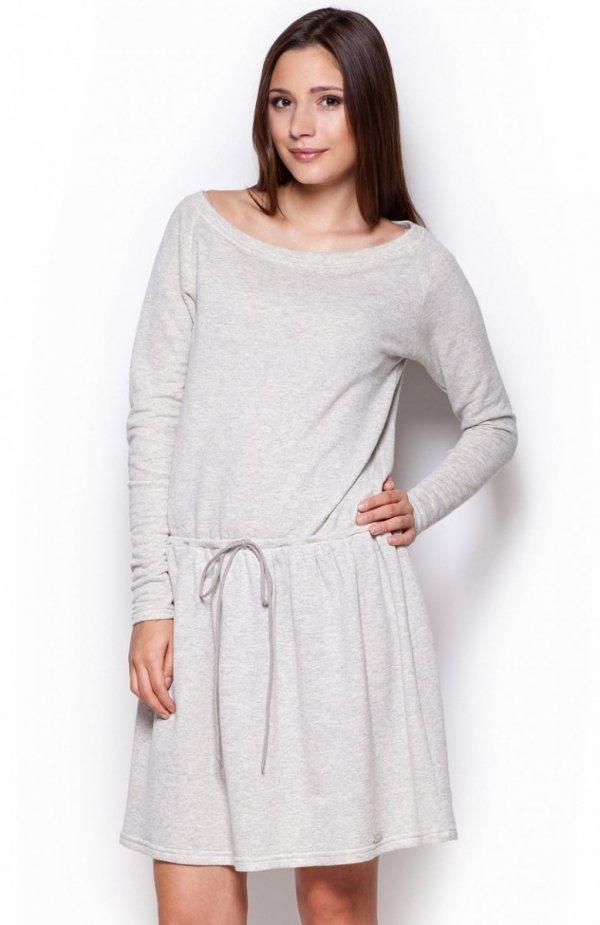 Figl M334 sukienka jasny szary