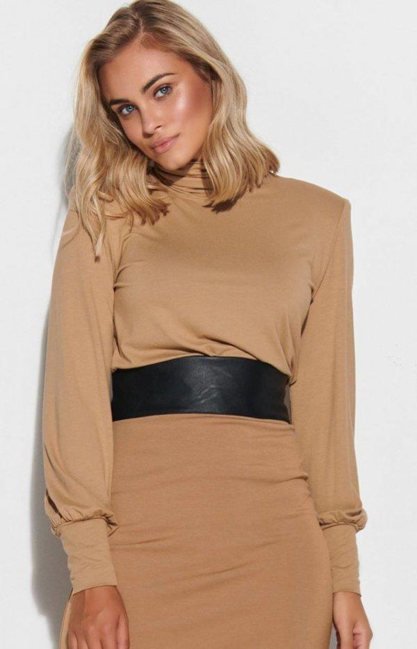 Beżowa bluzka damska Makadamia M593