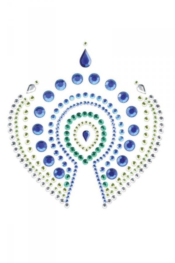 Bijoux Indiscrets Flamboyant dekoracja na ciało niebiesko-zielone