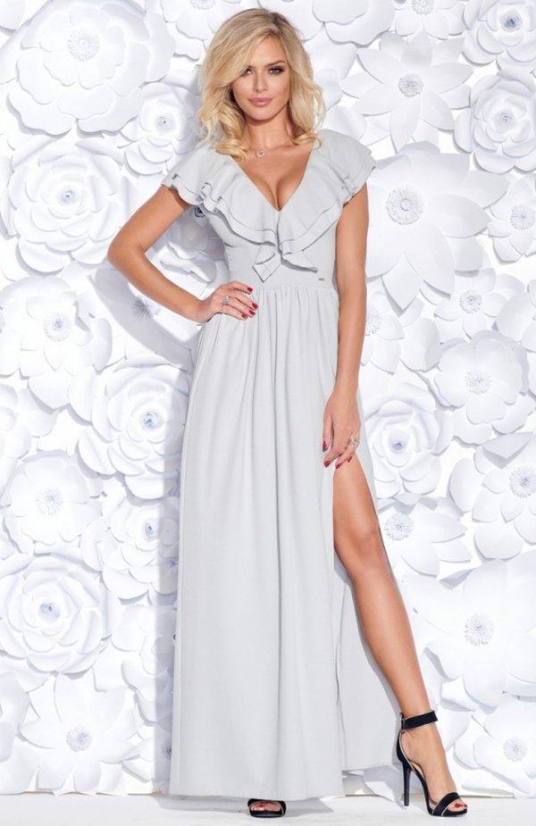 Bicotone 2152-03 sukienka szara