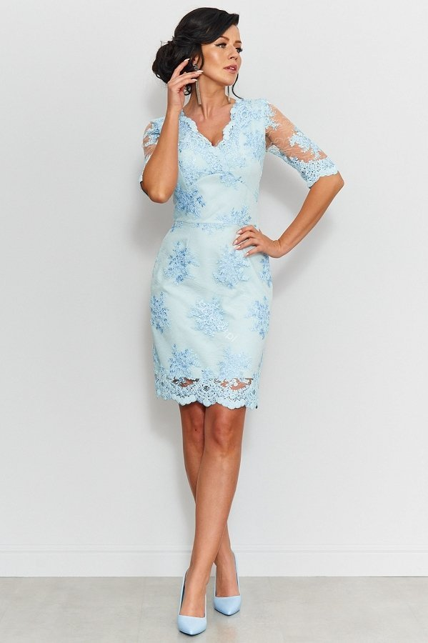 490defd7402c14 Roco 0153 sukienka koronkowa błękitna - Sukienki koronkowe ...