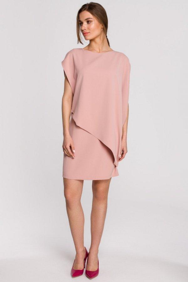 Elegancka sukienka mini warstwowa S262-1