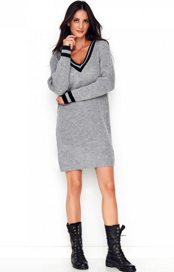 Sportowa sukienka szara S69-1