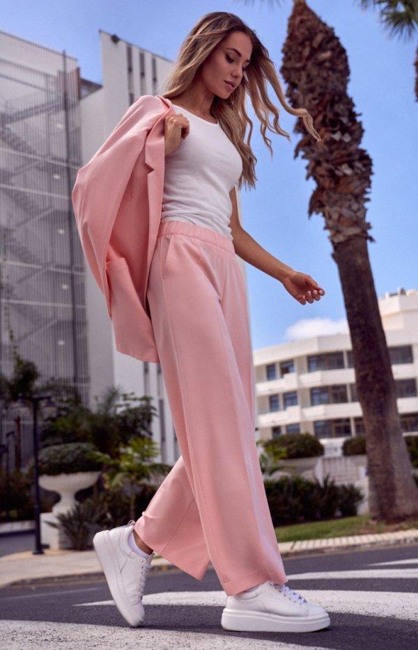 Szerokie spodnie damskie plazzo M570-1