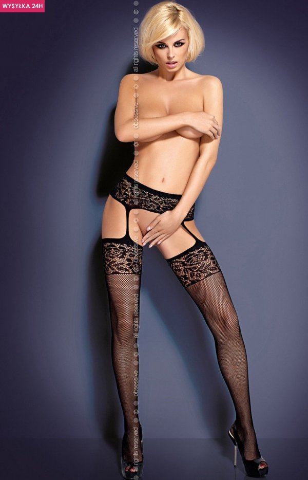 Obsessive Garter stockings S500 pończochy
