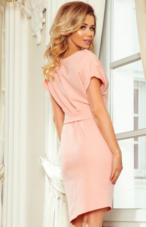 Sukienka z wiązanym paskiem Roxi Numoco 240-3 tył