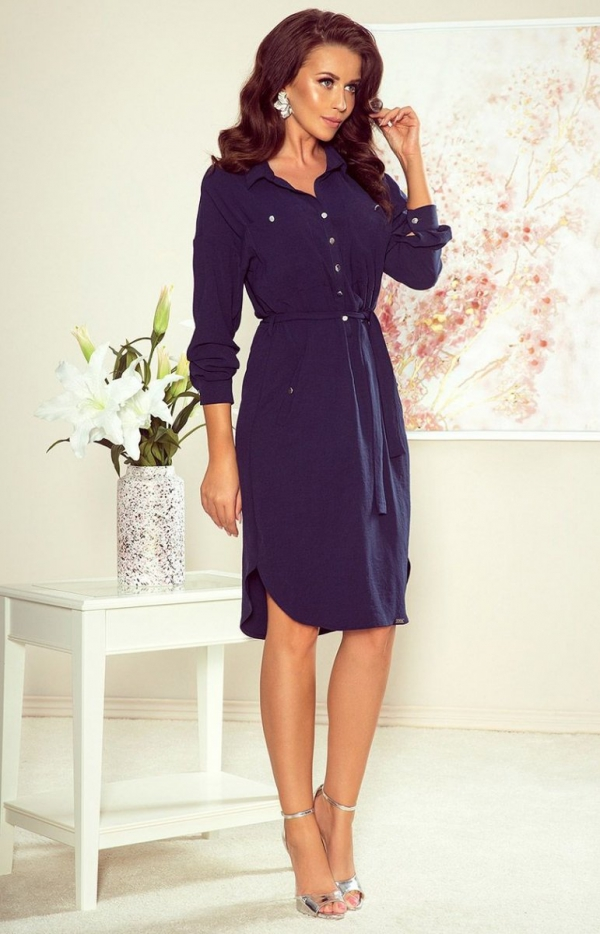 Koszulowa sukienka Numoco 258-3 Brooke-1