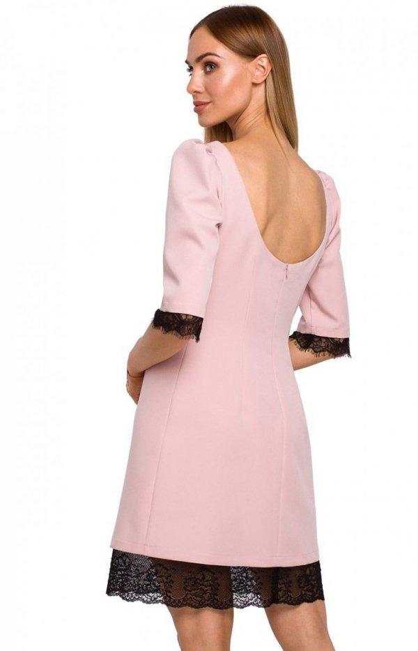 Sukienka z odkrytymi plecami Moe M489 tył