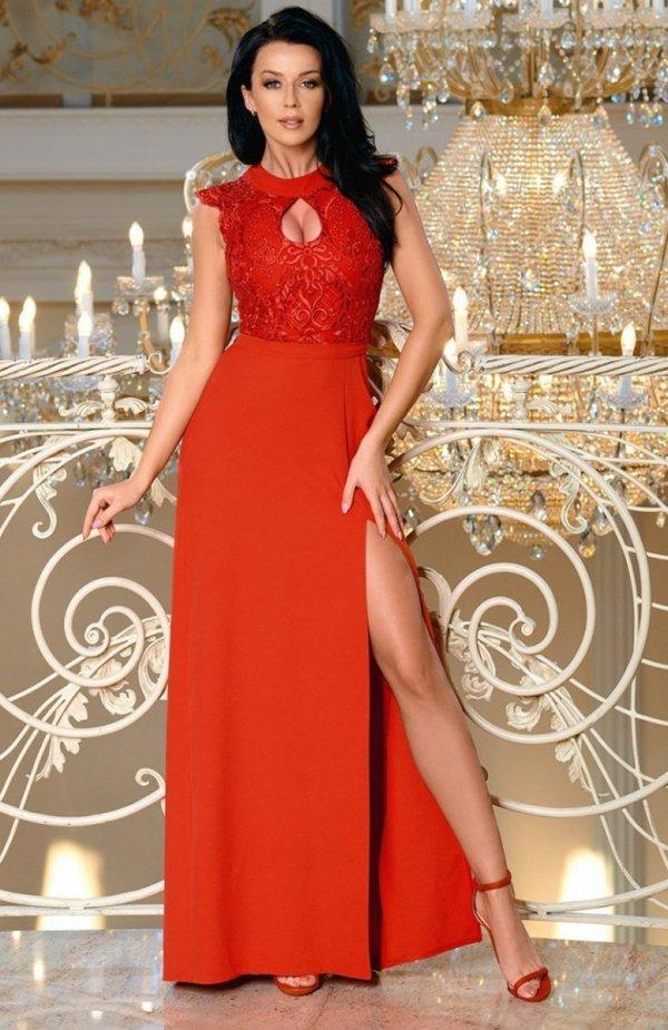 Bicotone 2168-02 sukienka czerwona