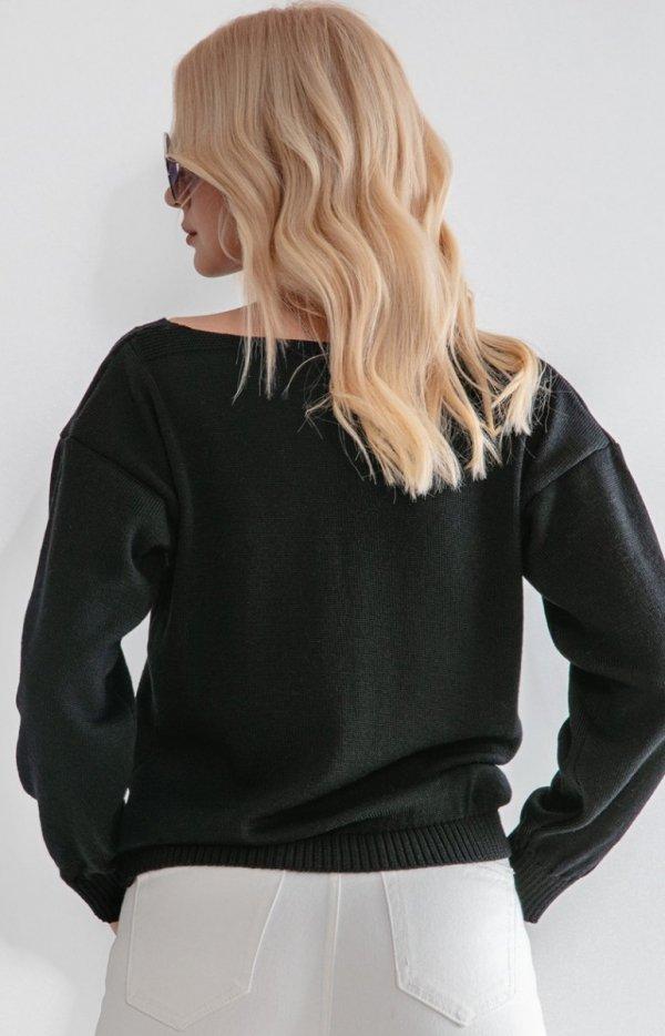 Lekki sweterk merino F1207 tył