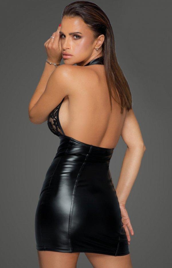 Seksowna sukienka powerwetlook F224 tył