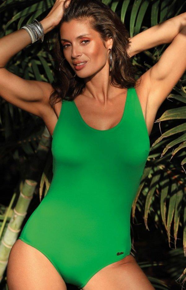 Jednoczęściowy kostium kąpielowy Hermiona Palm Green M-597