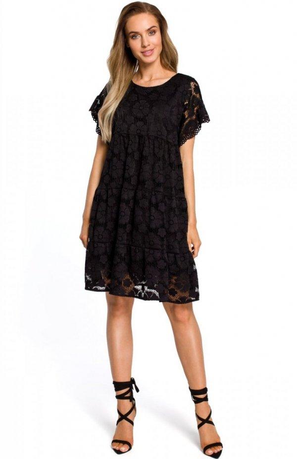 Moe M430 sukienka koronkowa czarna
