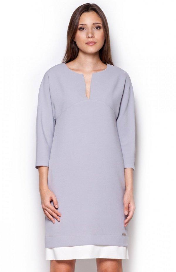 Figl M333 sukienka szara