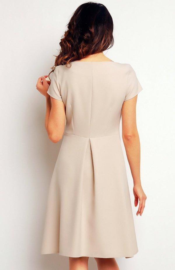 Infinite You M086 sukienka beżowa tył