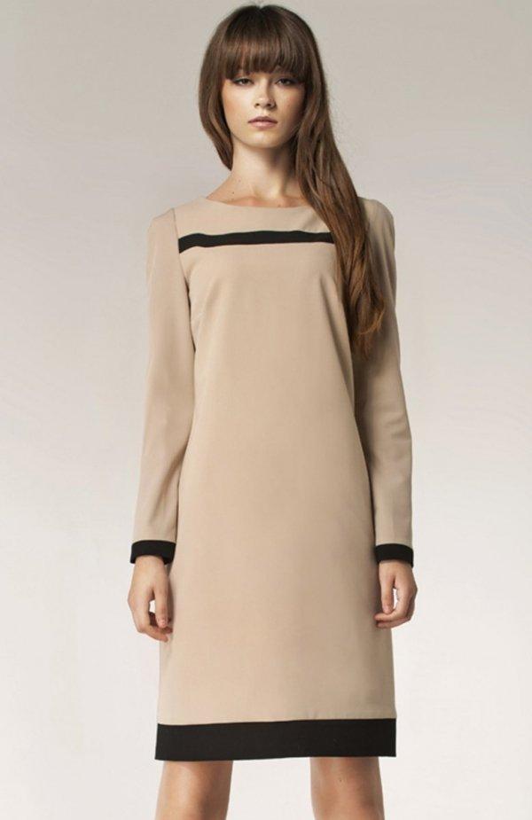 Nife S40 sukienka beżowa