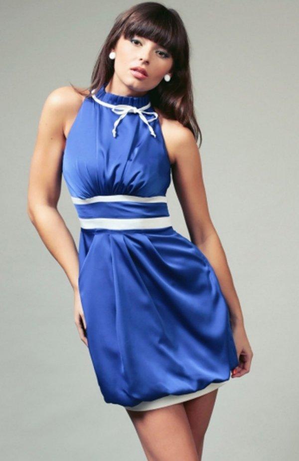 Vera Fashion Jacqueline sukienka chabrowa