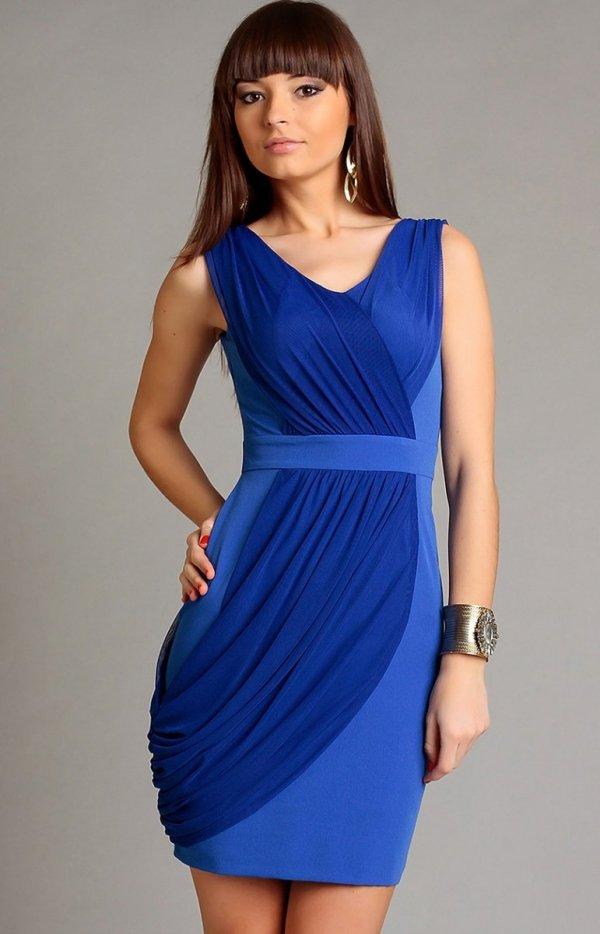 Vera Fashion Vivienne sukienka niebieska