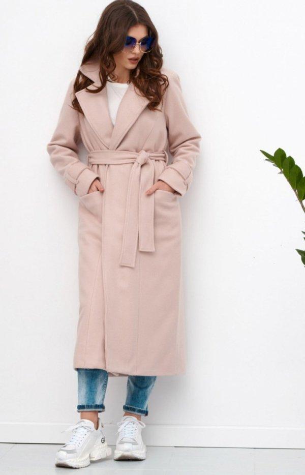 Długi płaszcz z wiązaniem 0017+1