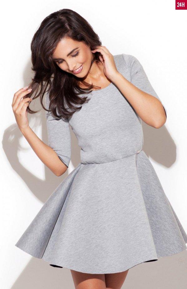 *Katrus K227 sukienka szara