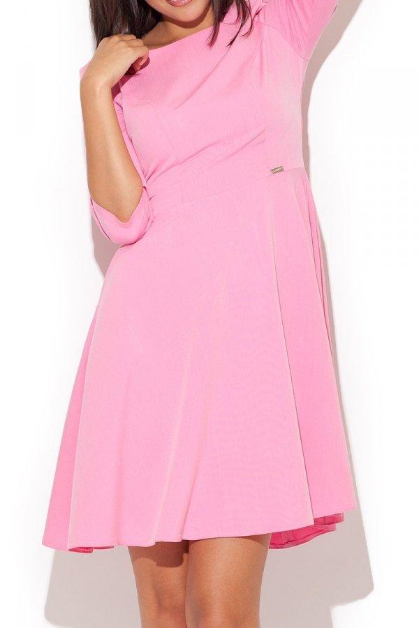 Katrus K219 sukienka różowa