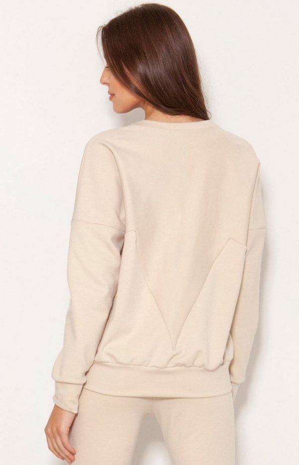 Luźna bluza damska BLU148 tył