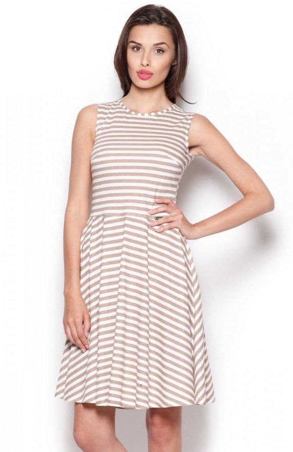 Figl M295 sukienka beżowa