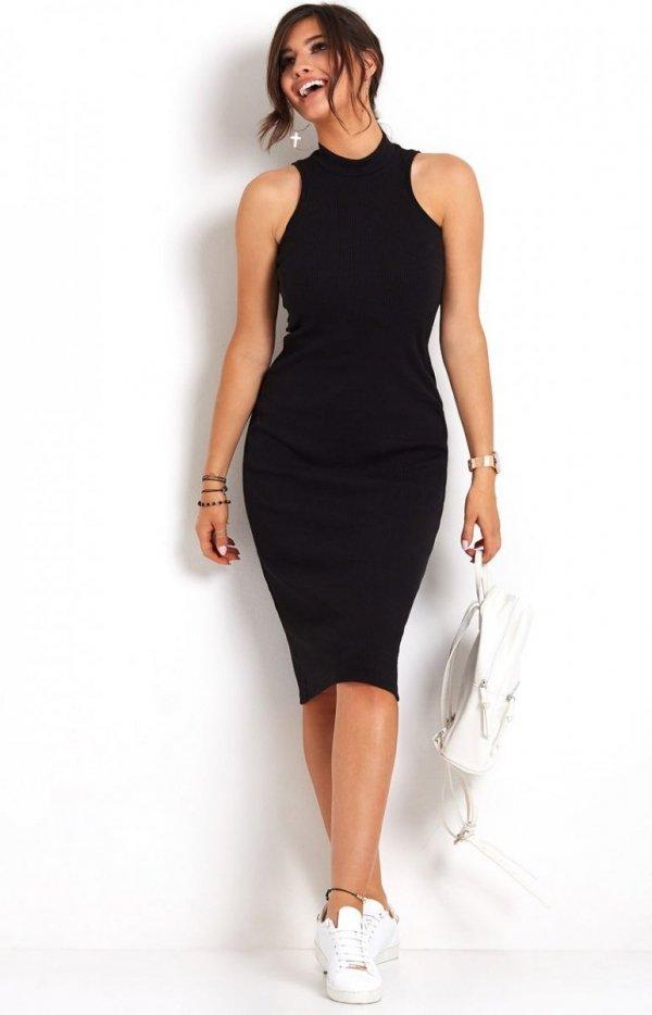 Ołówkowa sukienka czarna Rosa-4