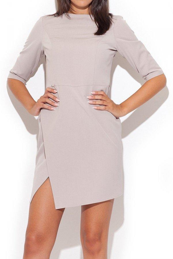 Katrus K200 sukienka beżowa